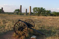 Ruins of Fort Phantom Hill, near Abilene, Texas.