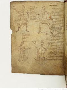 BnF ms. lat. 8318, Recueil factice composé de 4 manuscrits ou fragments de manuscrits différents: I. Arator Subdiaconus, Historia apostolica (f. 3-48). — II. Aurelius Clementis Prudentius, Psychomachia (f. 49-64). — III. Venantius Fortunatus, Carmina (f. 65-71). — IV. Aldhelmus, Carmina ecclesiastica (f. 73-80). -- 800-900 ,fol. 54v