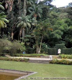 Jardins da casa que abriga o Museu do Açude, na Floresta da Tijuca
