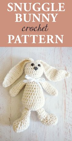 Snuggle Bunny Crochet Pattern - Make this adorable fluffy bun for any time of the year for maximum levels of cuteness. Make something for your own that will be a memorable keepsake for the years to come. #crochetpattern #amigurumi #crochetbunny