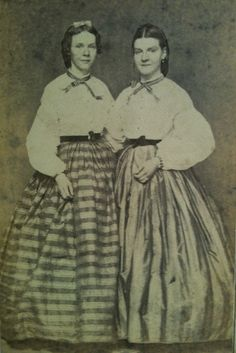 Two lovely ladies from the 1860s.  American
