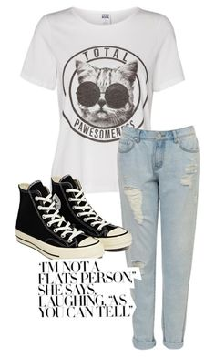 """Untitled #3"" by natsukt ❤ liked on Polyvore featuring Lipsy and Converse"