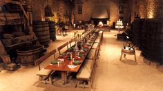 Dine in the medieval hall at Château de Bagnols, dating back to the days of Ghenghis Khan - Rhône-Alpes, France