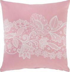 Zierkissen aus 100% Baumwolle in der Farbe Pink. B/L: ca. 45/45cm.