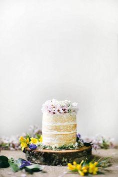 Naked Wedding Cake via Gilded Coast