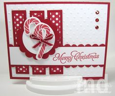 candy-christmas. This card is really cute! I think I have the candy cane stamp :). The embossed paper is perfect too!