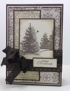 stampin up evergreen christmas card - Google Search