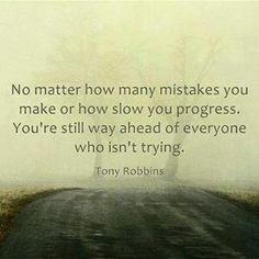 Mistakes - keep trying