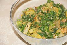 Patatas al horno con kale: una receta sana con kale, un superalimento.  #patatas #kale #superalimento #recetasana #recetariosano