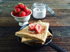 Grove havrepannekaker Retro Recipes, Ethnic Recipes, Oatmeal Pancakes, Cooking Recipes, Healthy Recipes, Healthy Food, Frisk, Tapas, Nom Nom