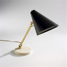 Paavo Tynell table lamp Taito Oy Finland, c. 1950 brass, black enameled steel