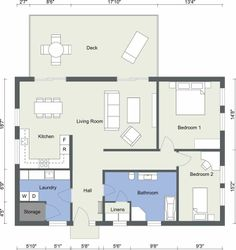 A Great Example Of A Color Coded 2d Floor Plan Designed In