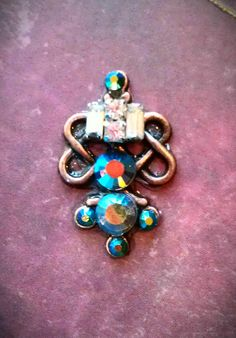 Reclaimed Steampunk Princess Bindi by ReclaimedDarkMuse on Etsy, $18.00