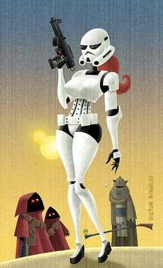 Stormtrooper pin-up girl.