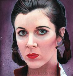 Princess Leia  Carie Fisher Bespin Empire Strikes Back Portrait by MJasonReed on DeviantArt
