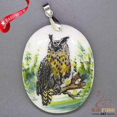 JEWELRY NECKLACE COLORING PAGES OWL PENDANT WHITE GEMSTONE ZL7001138 #ZL #Pendant