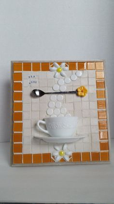 Tea cup mosaic. Captain's Glass