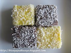 Orange curd Lamingtons :-) Australia Day, Filipino Recipes, Mini Cakes, Cake Cookies, Cooking Recipes, Sweets, Snacks, Baking, Eat