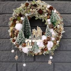 Virág Stúdió - Home Center Holiday Crafts, Christmas Wreaths, Christmas Crafts, Christmas Decorations, Holiday Decor, Home Studio, Advent, Winter, Flowers