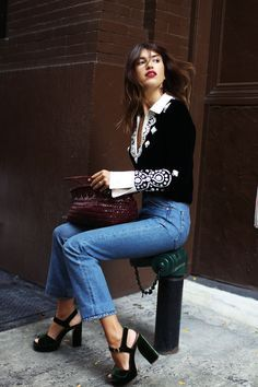 street style inspo #style #streetstyle #color #fashion #denim