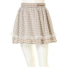 Ank Rouge ウエスト刺繍ギンガムチュールスカート