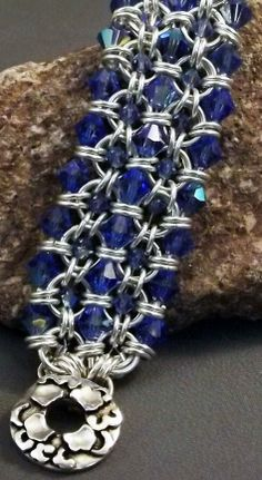 Chain maille bracelet by Sue Ripsch, Bead Fest Spring Workshop