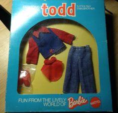"Mattel Tutti TODD 1973 ""Gut Angezogen"" European outfit NRFB Smoke free home"