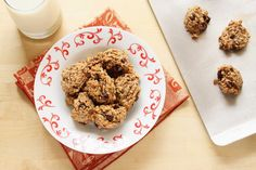Healthy Chocolate Chip and Oatmeal Banana Cookies
