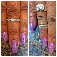 Manicure done last week-stamping fun.