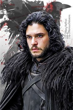 Lord Commander Jon Snow (Kit Harington) | Game of Thrones - by Hilary Heffron, Hilarious Delusions