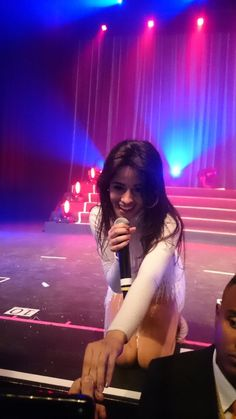 Camz on stage