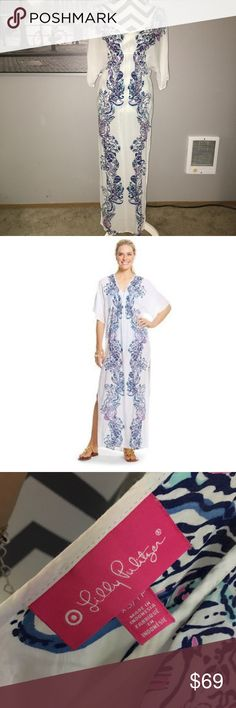 Lilly Pulitzer Maxi Caftan Swim Cover Up Lilly Pulitzer For Target Maxi Caftan Swim Cover Up Rayon Size XS. NWOT. Sold out in stores. On sale on ebay for $119. Lilly Pulitzer for Target Swim Coverups