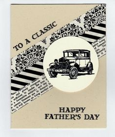 WT534 Classic Car for a Classic Dad by DCinkit - Cards and Paper Crafts at Splitcoaststampers More