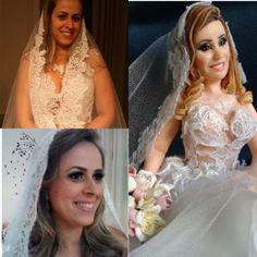 Topo de bolo: Patricia Rosa Foto comparativa  #noivinhos #topodebolohumanizado #topodebolo #topcake #caketopers #casamento #noivafeliz