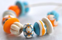 p i n o c e a n handmade lampwork beads set 12  mix / by pinocean, $39.75