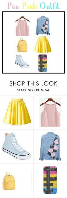 """""""Pan Pride Outfit"""" by hxnxkx on Polyvore featuring Philipp Plein, WithChic, Converse, pride, lgbt and panpride"""