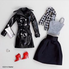 It may feel like summer in LA, but I'm still ready to bring out my cool weather wardrobe! Can't wait to wear this perfect fall look styled by Barbie Dolls Diy, Diy Barbie Clothes, Barbie And Ken, Barbie Wardrobe, Barbie Doll Accessories, Barbie Dream, Barbie Style, Barbie Fashionista, Barbie Patterns