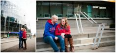 Engagement Photography; Meagan and Nate Photography; Downtown Kansas City; Sprint Center