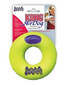 Brand New THE KONG COMPANY - AIR KONG SQUEAKER DONUT (LARGE) 'DOG PRODUCTS - DOG TOYS - ALL OTHER' *** Tried it! Love it! Click the image. : Dog Toys