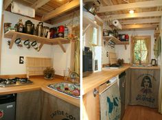 Bayside kitchen -- such a great tiny kitchen. Love the layout and placement.