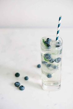 Blueberry Mint Fizz