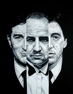 Godfather- the film that spawned three of the world's greatest actors.Robert De Niro, Marlon Brando and Al Pacino. The Godfather Poster, The Godfather Wallpaper, Godfather Movie, Marlon Brando, Movie Poster Art, Film Posters, Der Pate Poster, Don Corleone, Gangster Movies