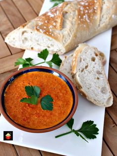 Mojo Picante, Spanish Red Pepper Sauce. This is a lovely tasting sauce popular in the Canary Islands. Serve with Tapas, goes great with seafood, chicken and pork. It's delicious! Will also keep refrigerated if you want to make ahead. Simple ingredients, easy recipe and out of this world in flavor! | Lovefoodies.com