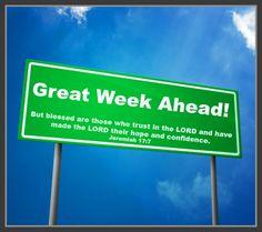 Great week ahead!