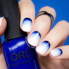 Ruffian blue gradient nails