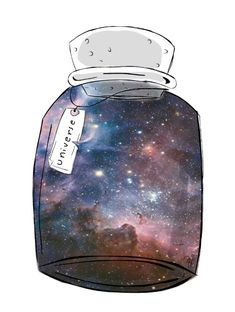 Universe in a jar. Made with PicsArt by meneghettii