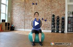 Sparkpeople New YOU Bootcamp: 8 Minute Arm Toning Workout Thigh Toning Exercises, Toning Workouts, Dumbbell Workout, Workout Fitness, Ball Workouts, Toned Legs Workout, Creativity Exercises, Spark People, Toned Arms