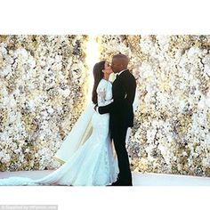 The real deal:It is certainly far raunchier than the dress worn by Kim for her lavish Italian wedding two years ago, when she walked down the aisle in a jaw-dropping Givenchy Haute Couture gown