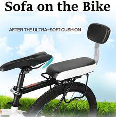Travel Bike Saddle Adult Child Bicycle Comfortable Seat Children Men Women Travelling MTB Folding Bike Cushion Chair Set + Pedal