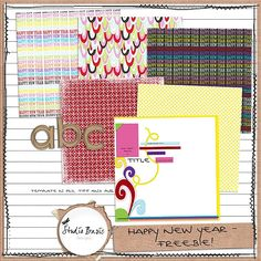 Happy New Year tiny kit freebie from Studio Basic #digiscrap #scrapbooking #digifree #scrap #freebie #scrapbook
